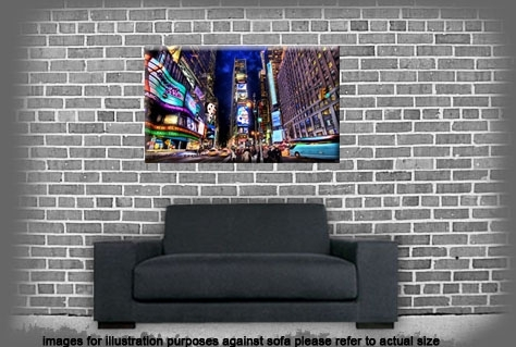 Quirky New York Times Square At Night Single Canvas Wall Art Picture inside Quirky Canvas Wall Art