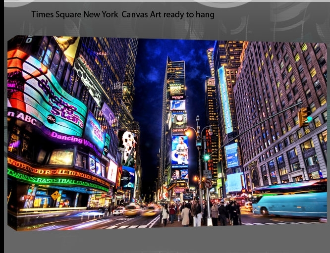 Quirky New York Times Square At Night Single Canvas Wall Art Picture with regard to Quirky Canvas Wall Art