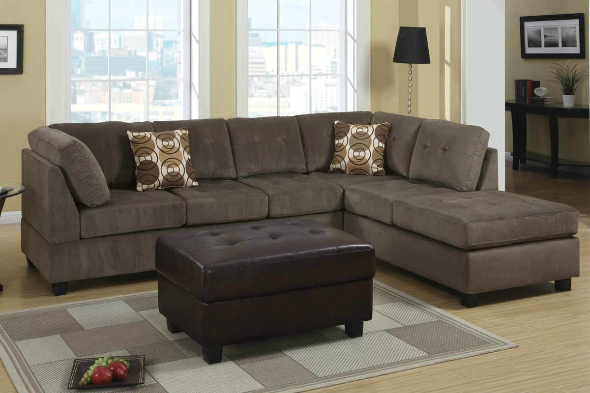 Radford Ash Reversible Microfiber Sectional Sofa – Steal A Sofa Intended For Los Angeles Sectional Sofas (View 5 of 10)