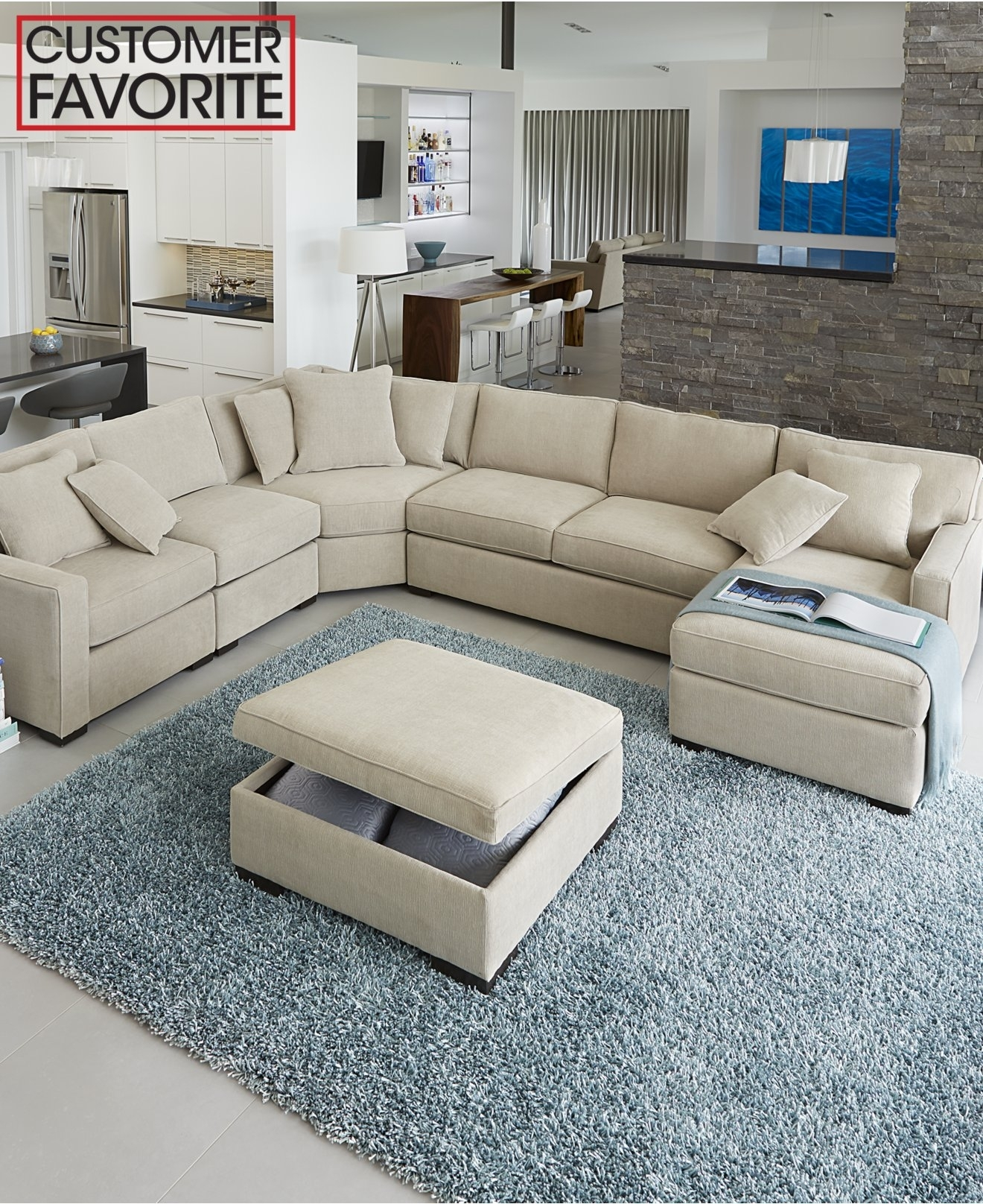 Radley Fabric Sectional Sofa Collection, Created For Macy's Pertaining To Macys Sectional Sofas (Image 6 of 10)