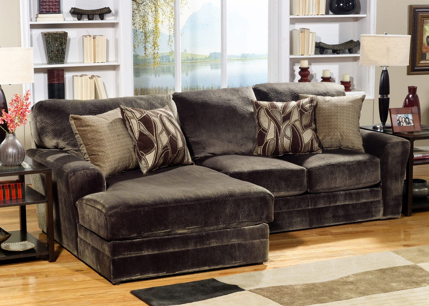 Rainier 2 Piece Modular Sectional | Hom Furniture Pertaining To St Cloud Mn Sectional Sofas (Image 4 of 10)