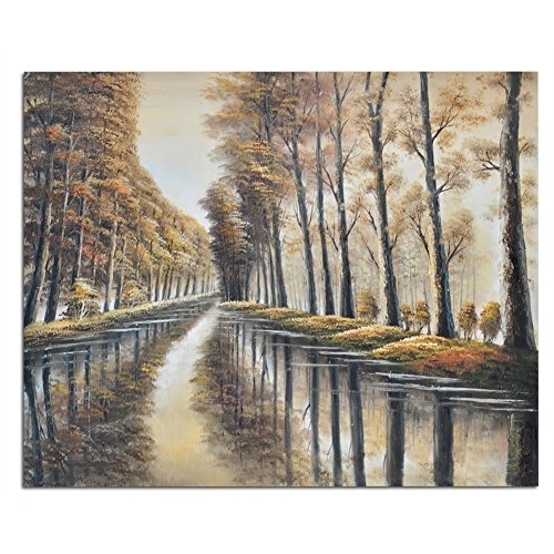 Raybre Art 100% Hand Painted Oil Painting On Canvas Abstract In Abstract Landscape Wall Art (View 4 of 15)