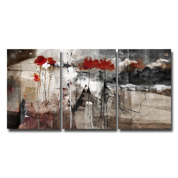 Ready2Hangart 'abstract' Multi Panel Canvas Wall Art – Free In Abstract Kitchen Wall Art (View 14 of 15)