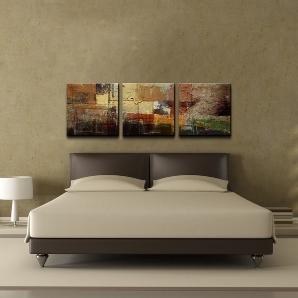 Ready2Hangart 'abstract' Oversized Canvas Wall Art (3 Piece Set Throughout Overstock Abstract Wall Art (Image 11 of 15)