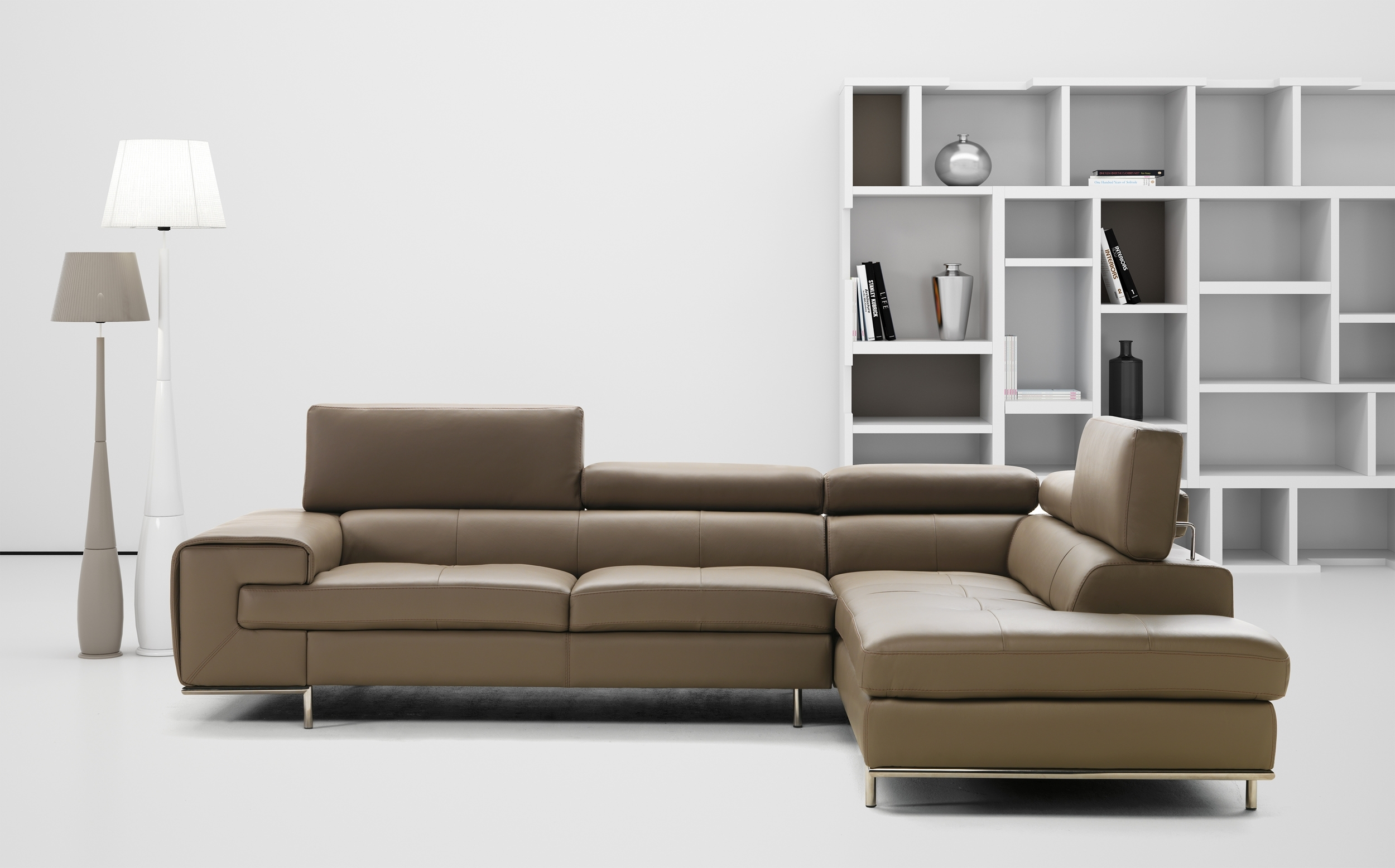 Real Leather Tufted Sectional Sofa Memphis Tennessee Industria With Regard To Tufted Sectional Sofas (Image 5 of 10)