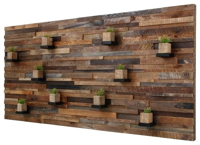 Reclaimed Wood Wall Art Reclaimed Wood Wall Art Large Best Walls For Reclaimed Wood Wall Accents (View 5 of 15)
