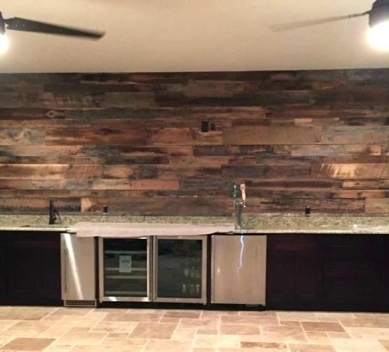 Reclaimed Wood Wall – Sillyroger Intended For Reclaimed Wood Wall Accents (Image 9 of 15)