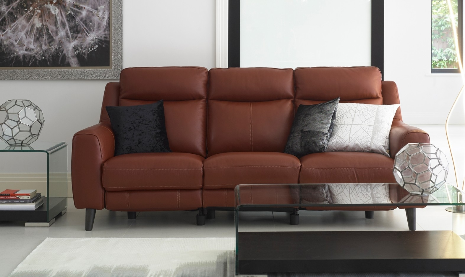 Recliner Sofas In Leather & Fabric | Fishpools With Recliner Sofas (Image 8 of 10)