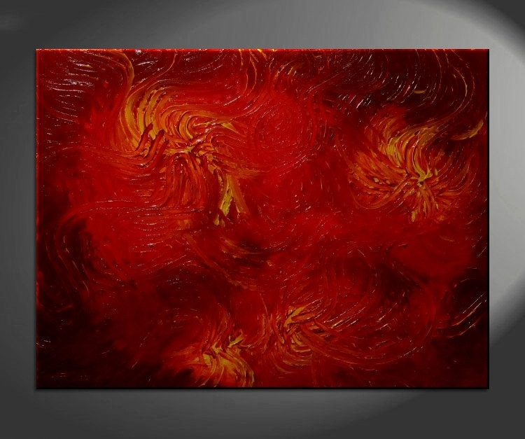 Red Abstract Archives – Artnathalie Van Within Ottawa Abstract Wall Art (View 14 of 15)
