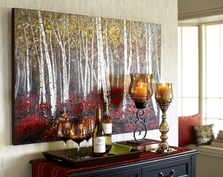 Red Birch Trees Art – (View 7 of 15)