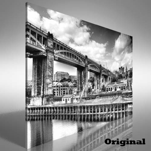 Red Hue Bridge Newcastle Upon Tyne Canvas Print Large Picture Wall With Regard To Newcastle Canvas Wall Art (View 5 of 15)
