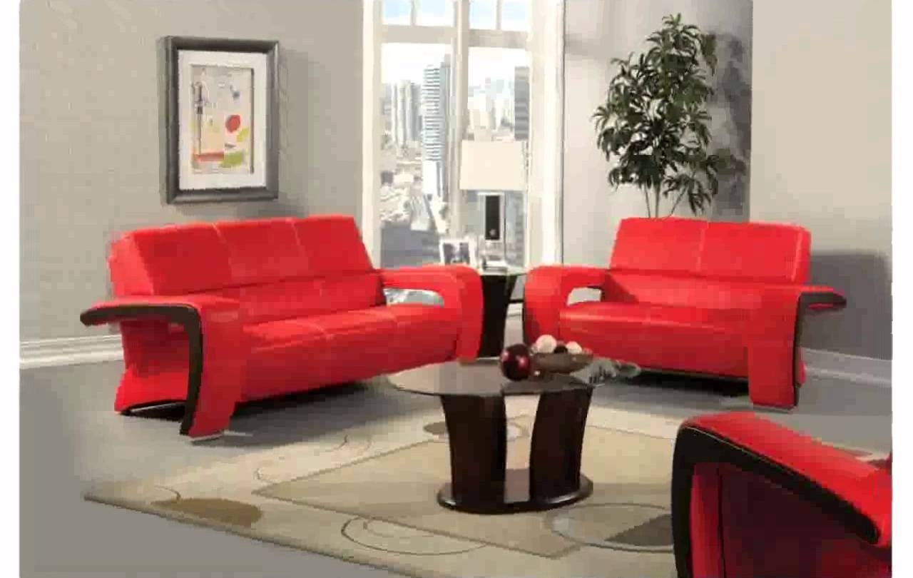 Red Leather Couch Decorating Ideas – Youtube Regarding Red Leather Couches For Living Room (View 3 of 10)