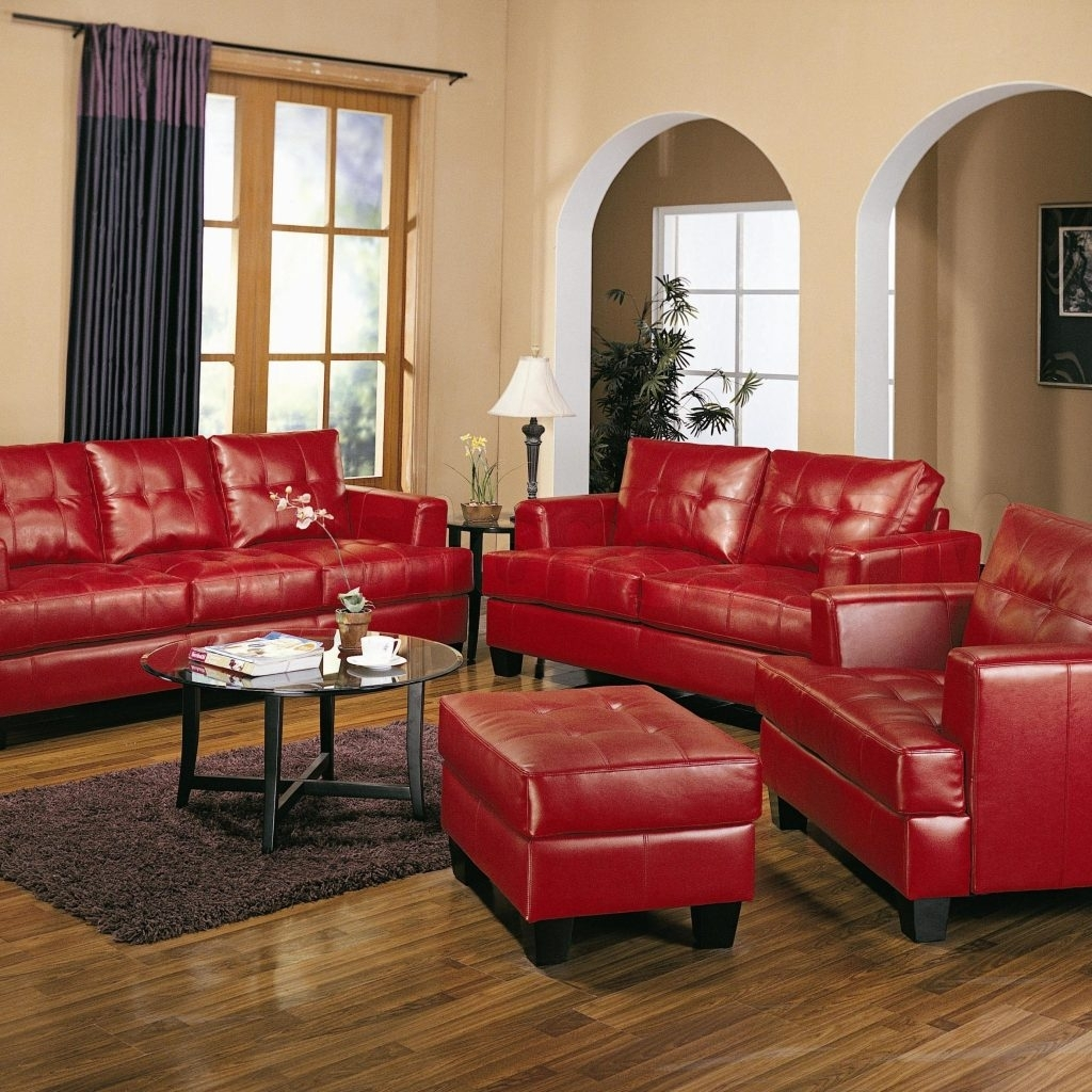Red Leather Living Room Chair | Http://intrinsiclifedesign Intended For Red Leather Couches For Living Room (View 1 of 10)