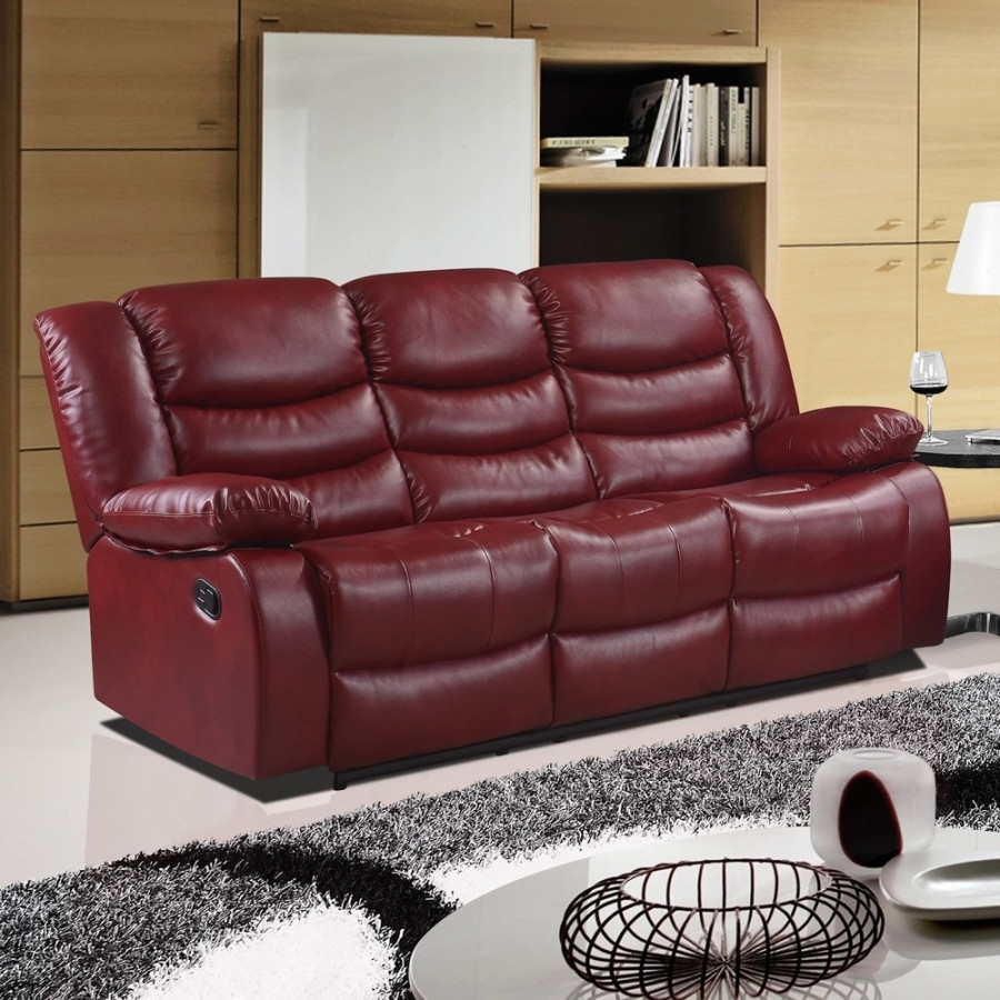 Red Leather Reclining Sofa And Loveseat | Home Design And Decorating Pertaining To Red Leather Reclining Sofas And Loveseats (View 4 of 10)