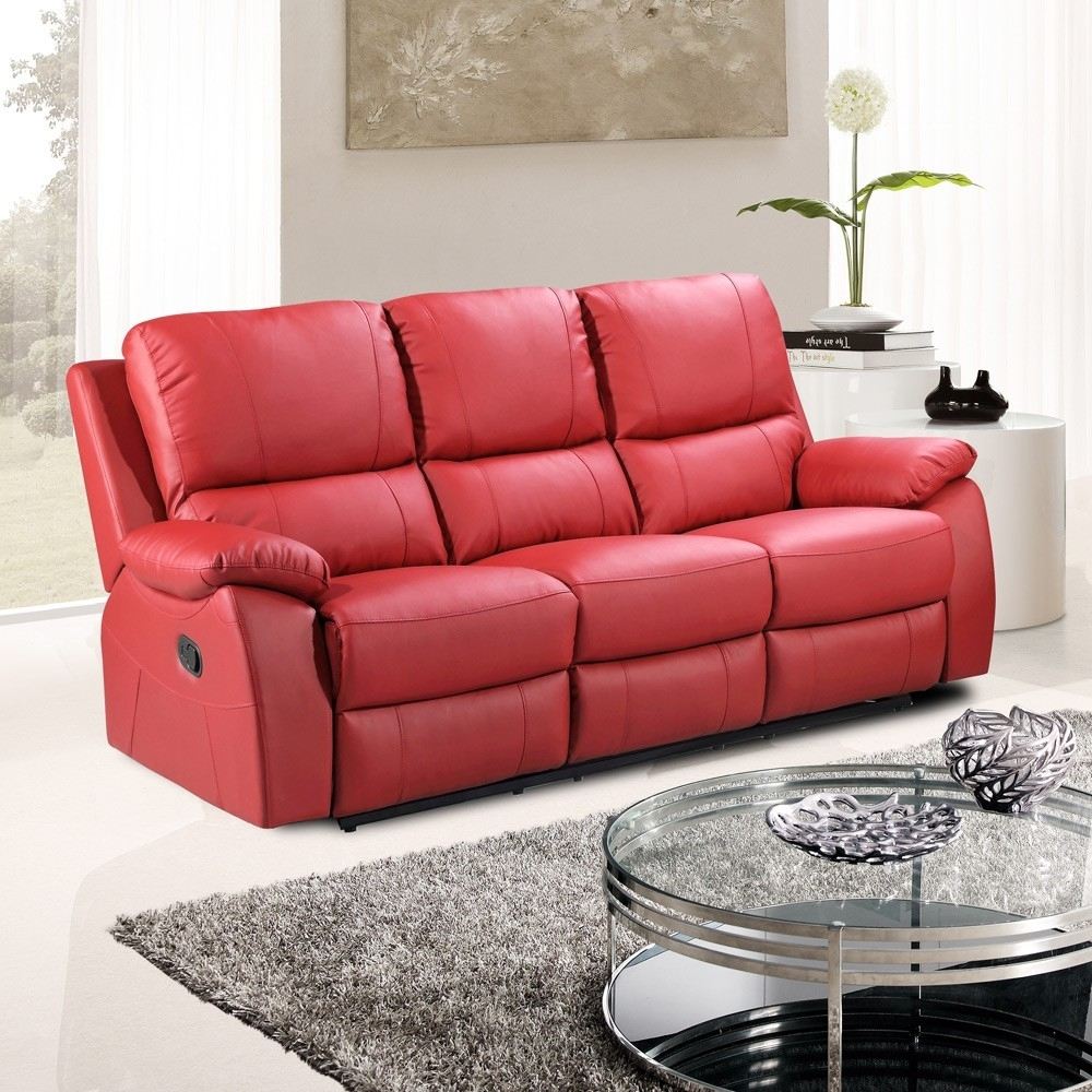 Red Leather Reclining Sofa – Visionexchange (Image 6 of 10)
