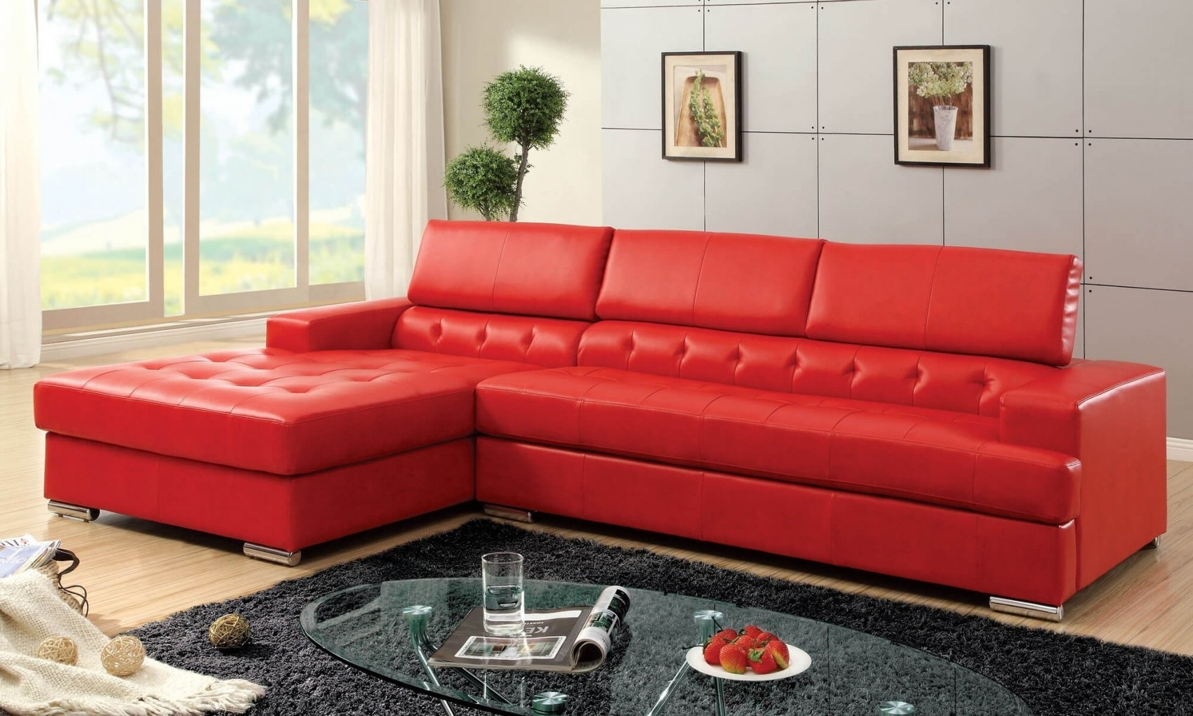 Red Leather Sectional Sofa Contemporary – Best Sectional In In Red Leather Couches (Image 6 of 10)