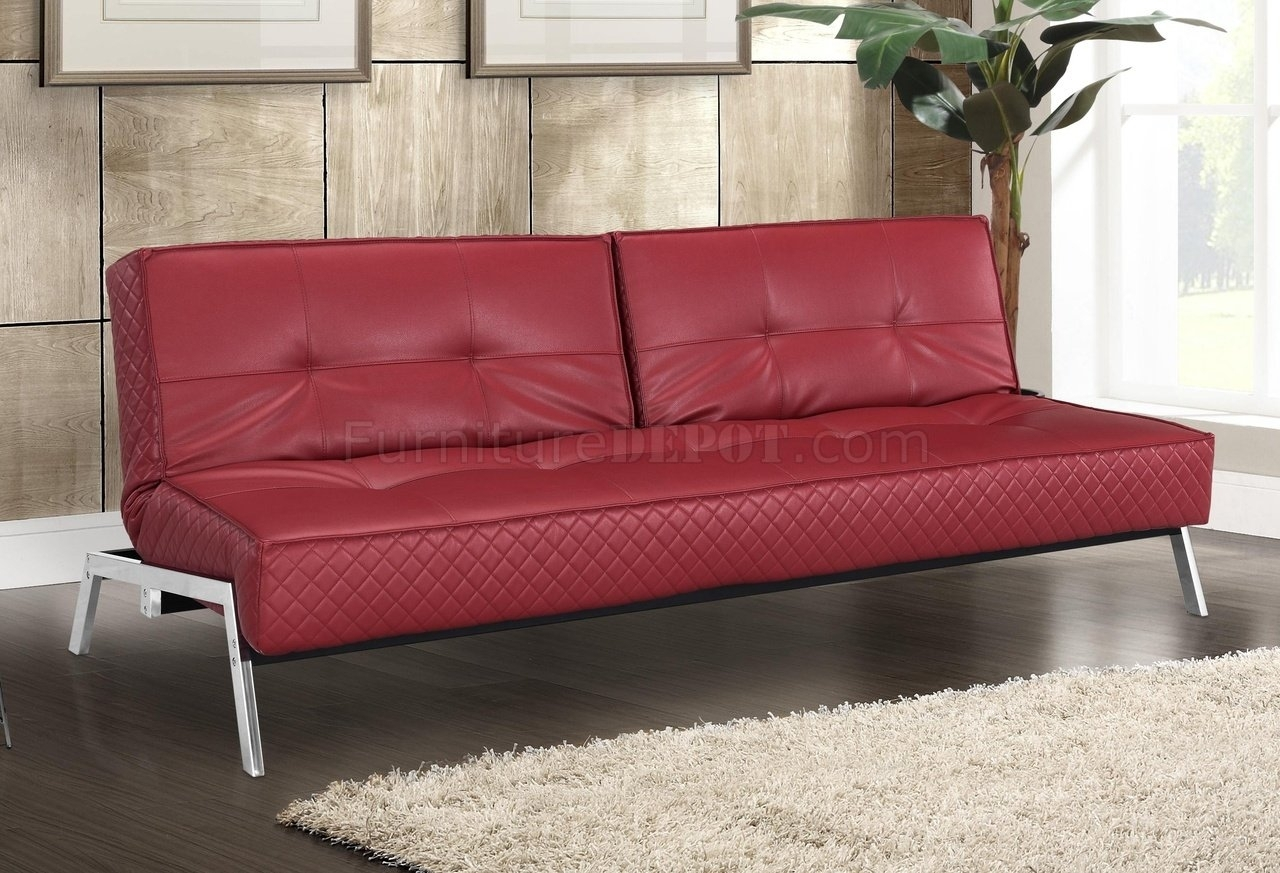 Red Leather Sleeper Sofa – Interior Design With Regard To Red Sleeper Sofas (Image 10 of 12)