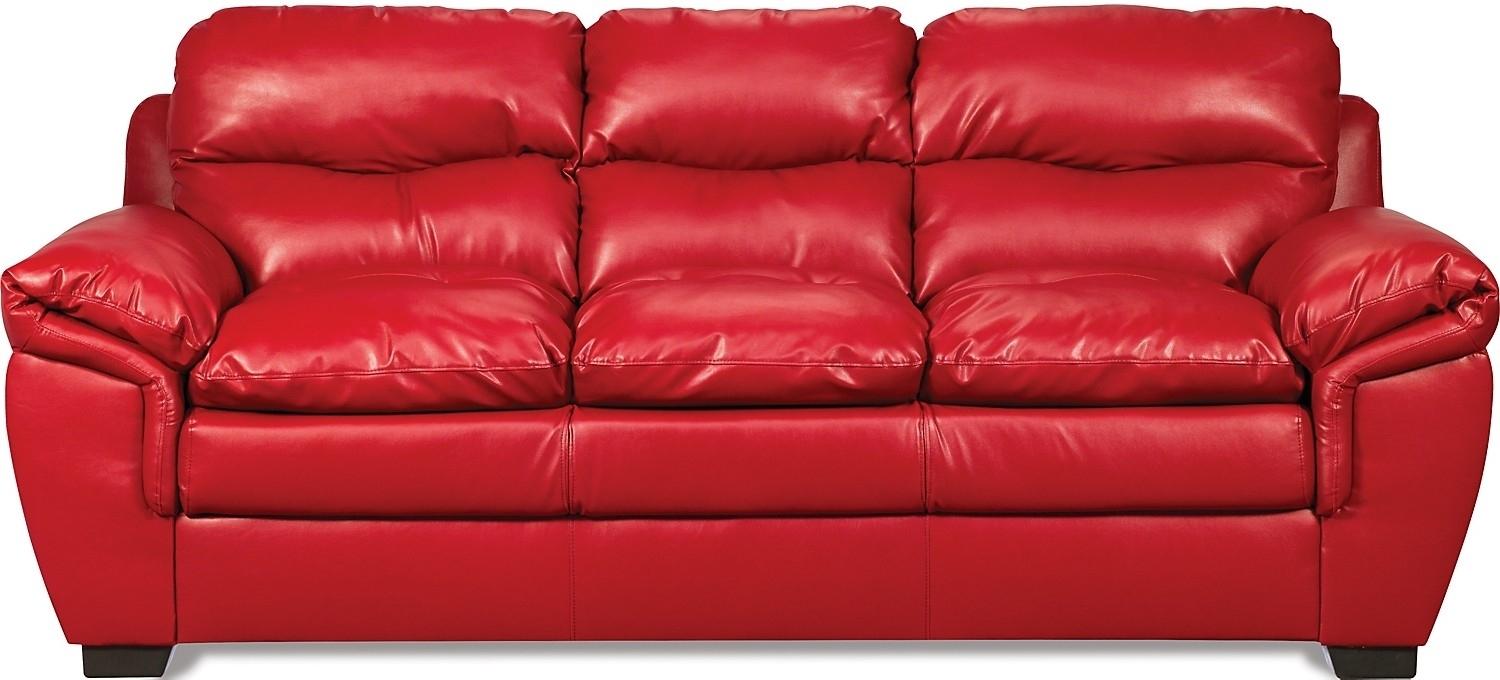 Red Leather Sofa Entrancing Inspiration Red Leather Sofas For Sale For Small Red Leather Sectional Sofas (Image 3 of 10)
