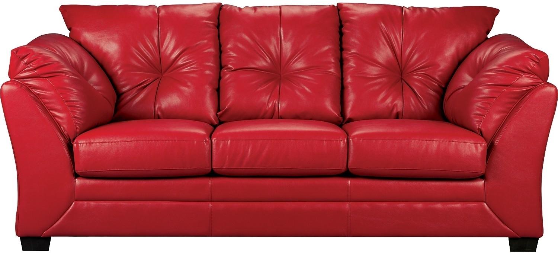 Red Leather Sofa   Red Leather Sofa 2 Seater   Red Leather Sofa Bed For Red Leather Sofas (Image 9 of 10)