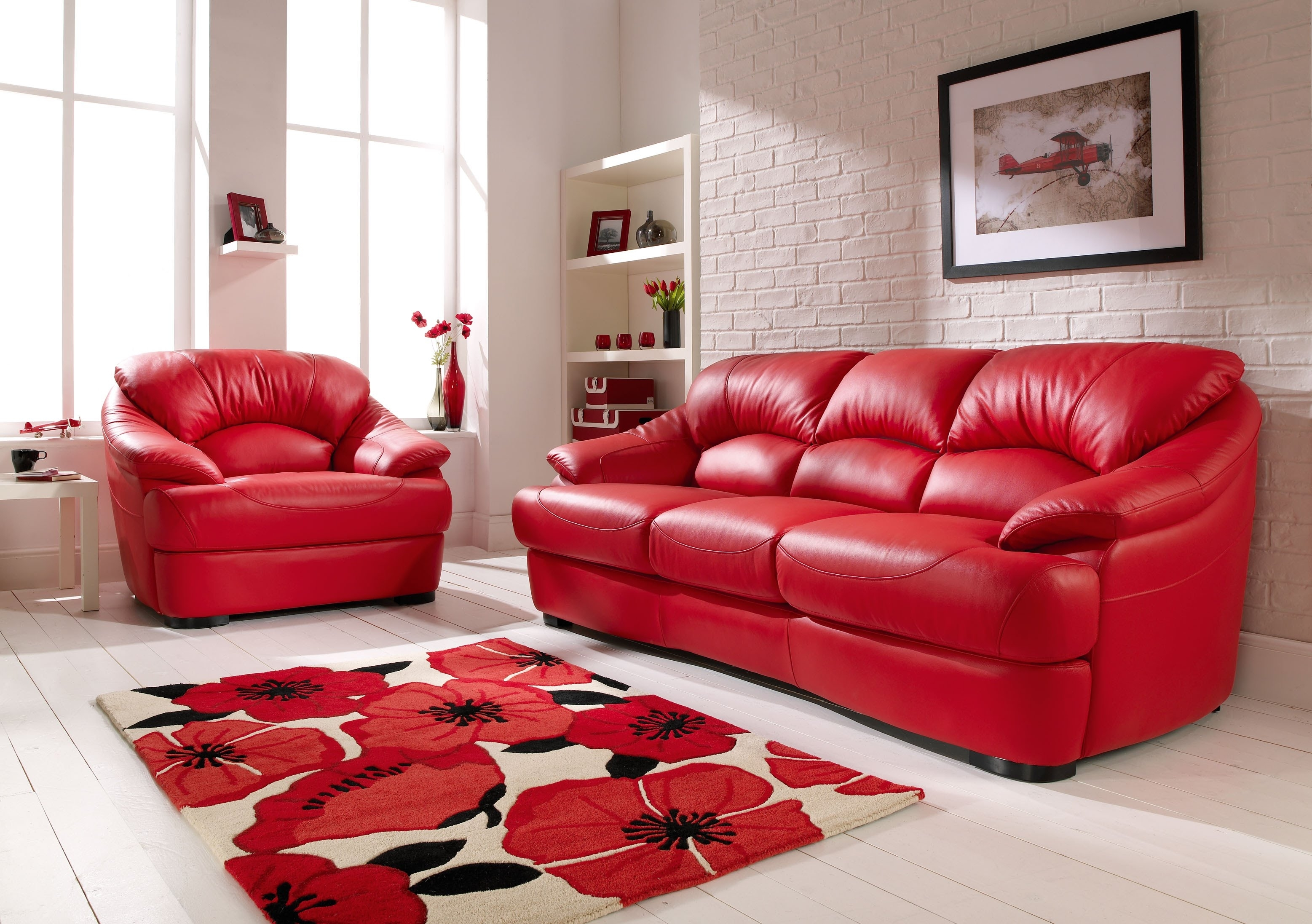 Red Leather Sofa – Youtube Throughout Red Leather Couches (Image 7 of 10)