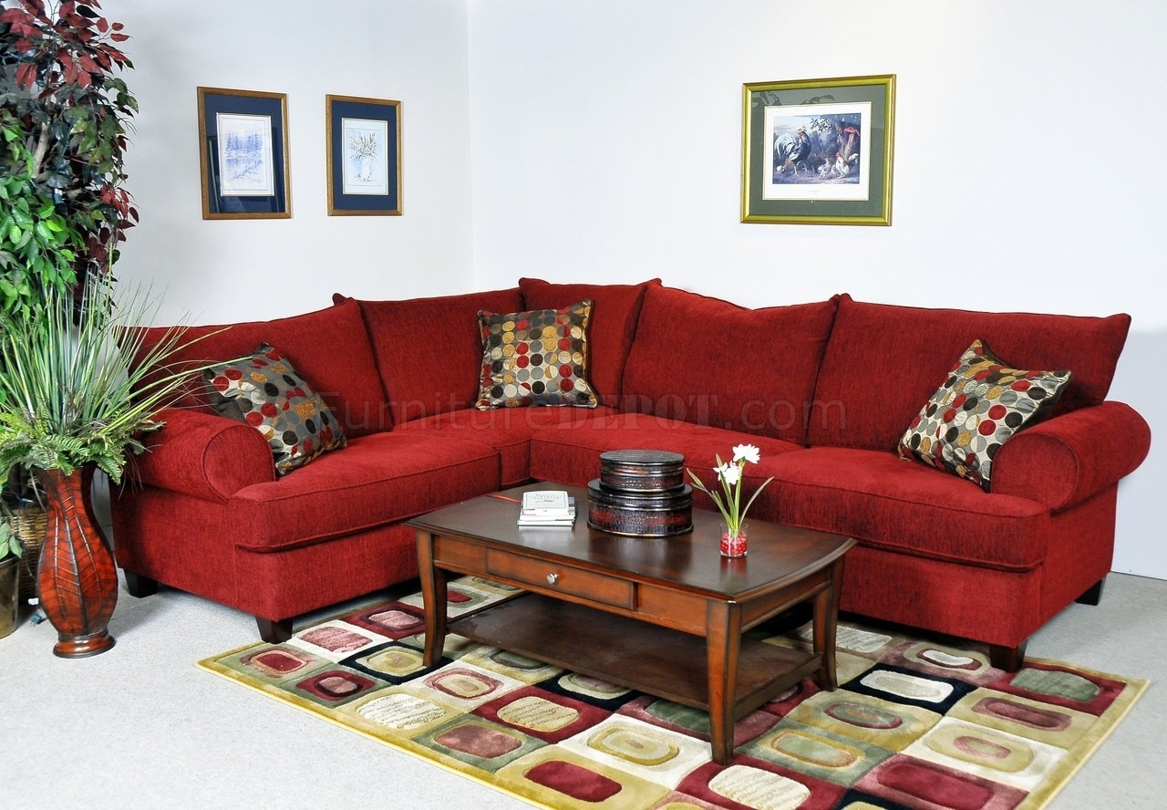Red Sectional Sofa Be Equipped Sectional With Chaise Be Equipped Pertaining To Red Sectional Sofas (Image 8 of 10)