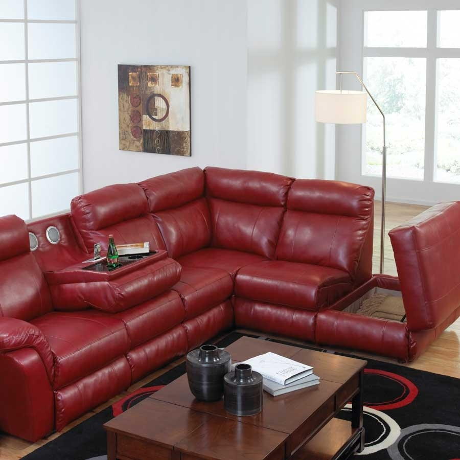 Red Sectional Sofa With Chaise | Catosfera In Red Leather Sectionals With Chaise (Image 6 of 10)