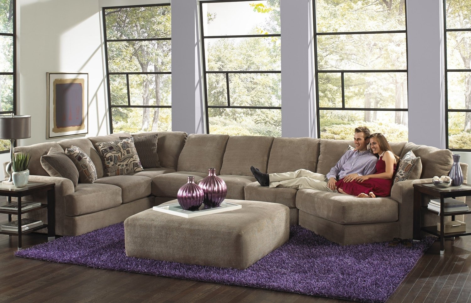 Regal 3 Piece Modular Sectional | Hom Furniture In St Cloud Mn Sectional Sofas (Image 6 of 10)