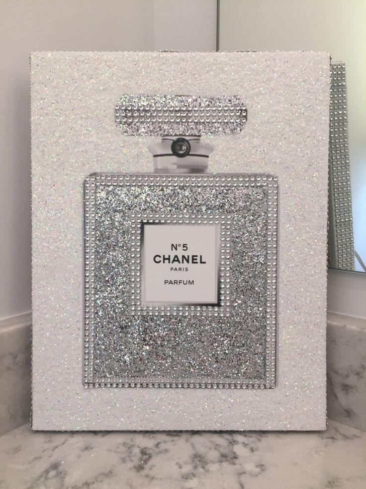 Remarkable Ideas Glitter Wall Art 8 Best Chanel Canvas Art Glitter In Glitter Canvas Wall Art (Image 11 of 15)