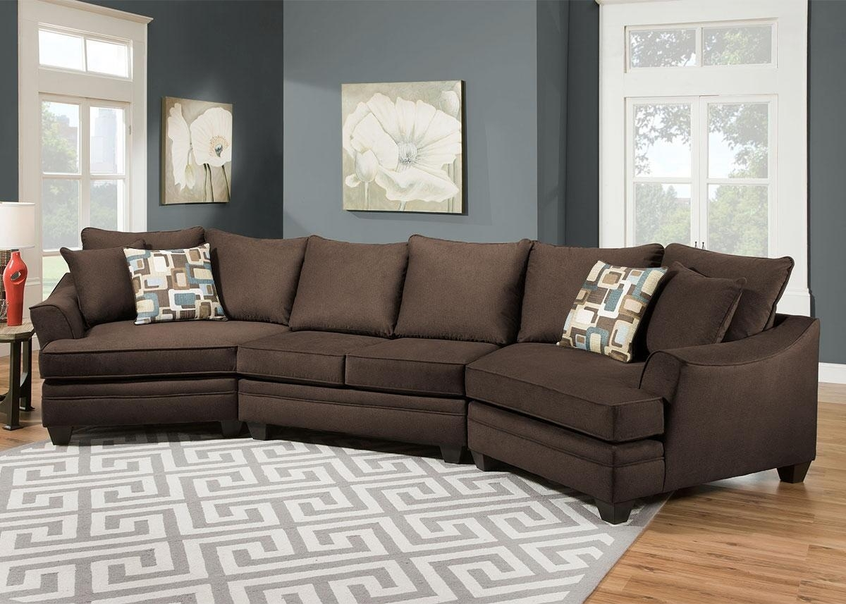 Remarkable Sectional Sofa With Cuddler Chaise 72 For Your Chenille Regarding Sectional Sofas With Cuddler Chaise (View 7 of 10)