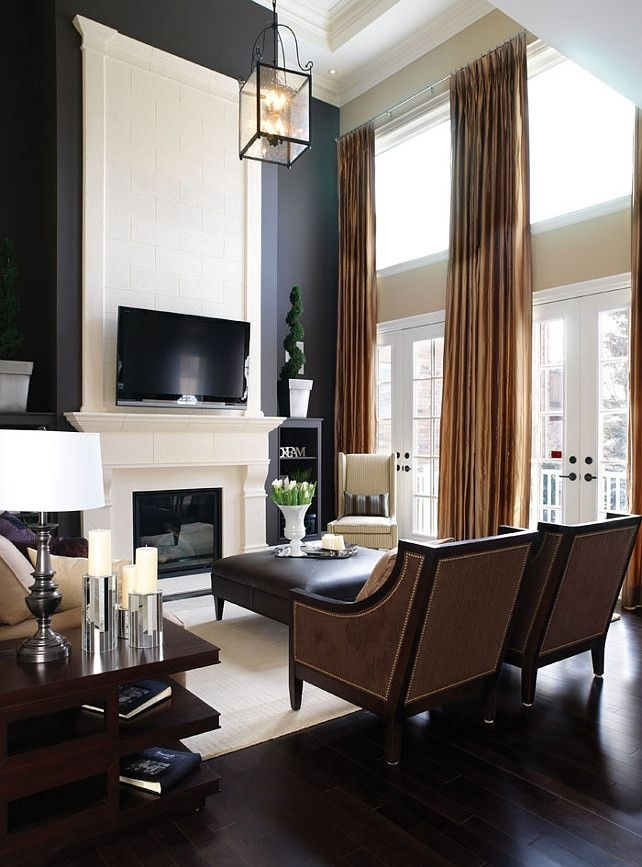 Remodelaholic | 24 Ideas On How To Decorate Tall Walls In High Ceiling Wall Accents (Image 10 of 15)