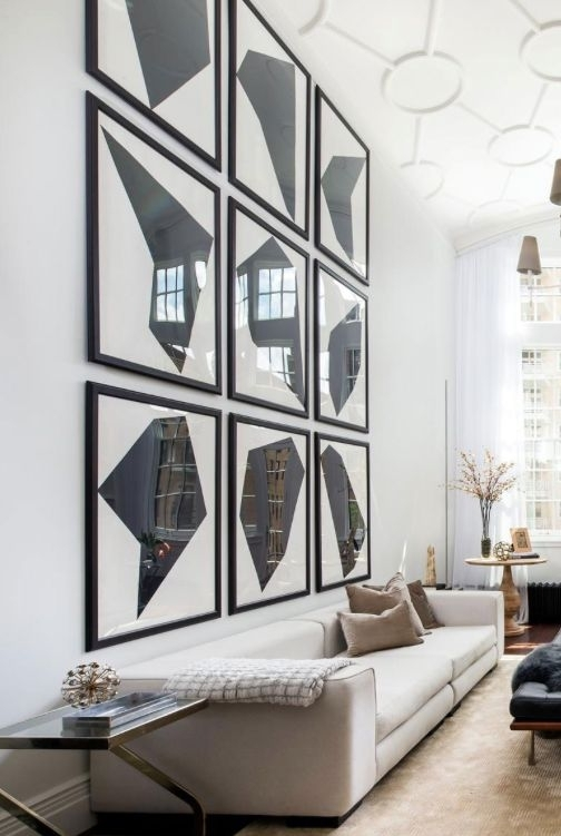 Remodelaholic | 24 Ideas On How To Decorate Tall Walls Regarding High Ceiling Wall Accents (Image 11 of 15)