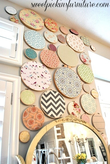 Remodelaholic | 60 Easy Wall Art Ideas That Even Kids Can Make Regarding Fabric Hoop Wall Art (View 12 of 15)