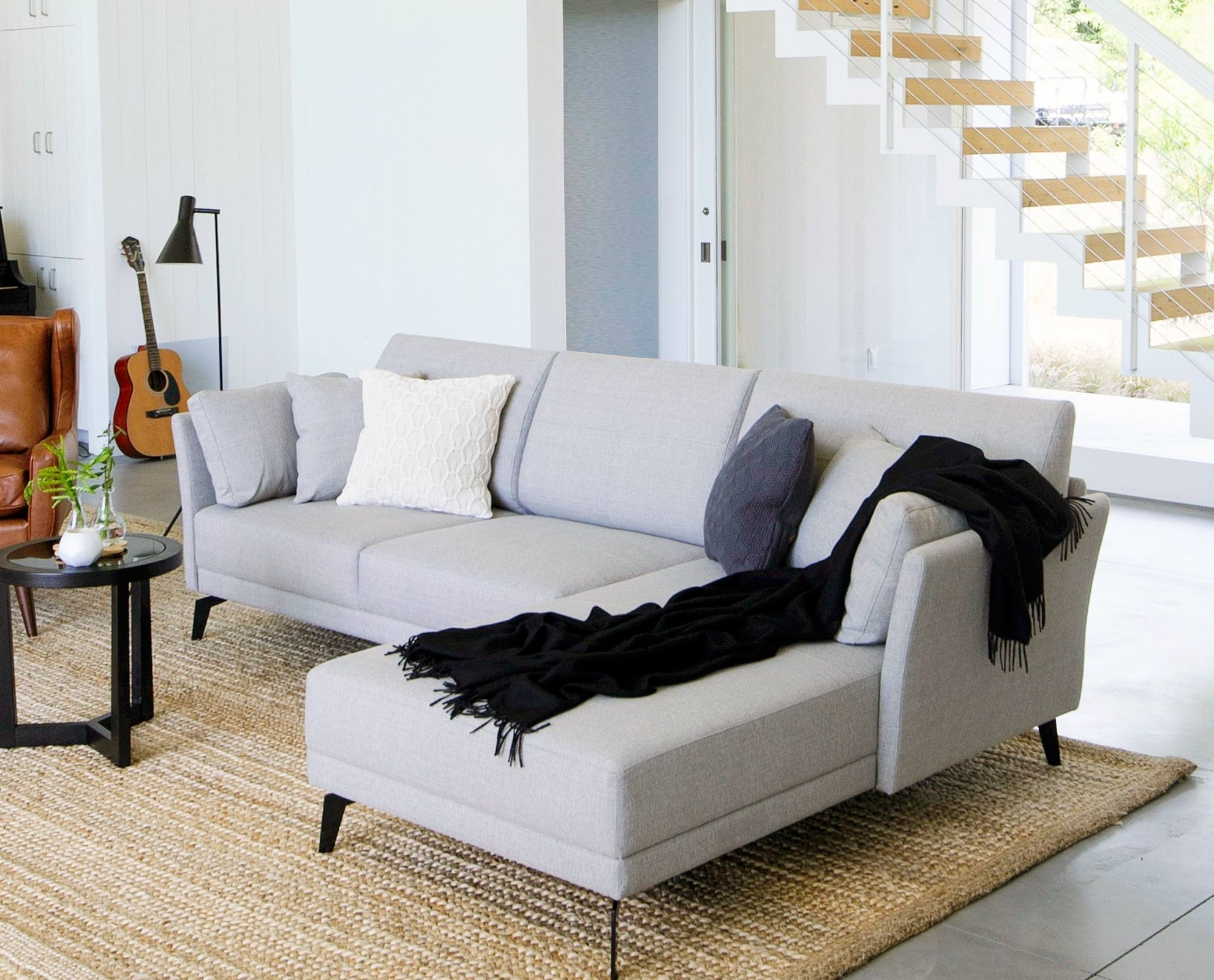 Renata Chaise Sectional // Scandinavian Designs | Casa Youngblade In Dania Sectional Sofas (Image 7 of 10)