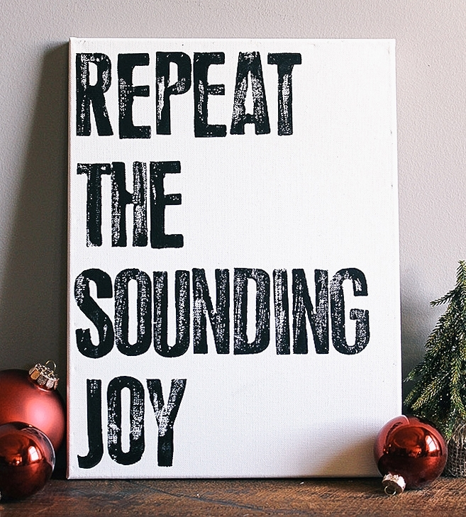 Repeat The Sounding Joy Canvas Wall Art | Art Prints & Posters With Regard To Joy Canvas Wall Art (View 5 of 15)