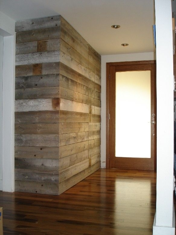 Replace Shiny Wood In Additionfireplace! Entryway Wall Built For Entrance Wall Accents (View 4 of 15)