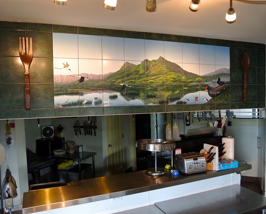 Restaurant Wall Art – Thomas Deir Honolulu Hi Artist For Hawaii Canvas Wall Art (Image 12 of 15)