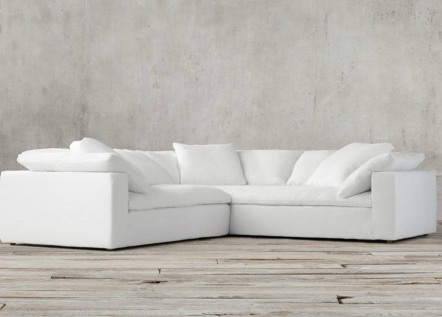 Restoration Hardware Cloud Modular Slipcovered Sofa: For Sale In San Inside Joining Hardware Sectional Sofas (Image 9 of 10)