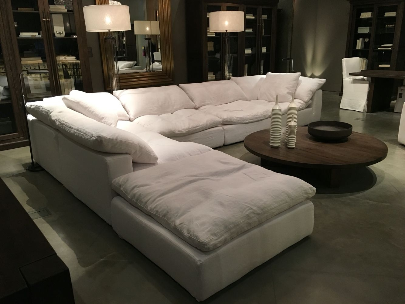 "Restoration Hardware Sectional ""cloud"" Couch 