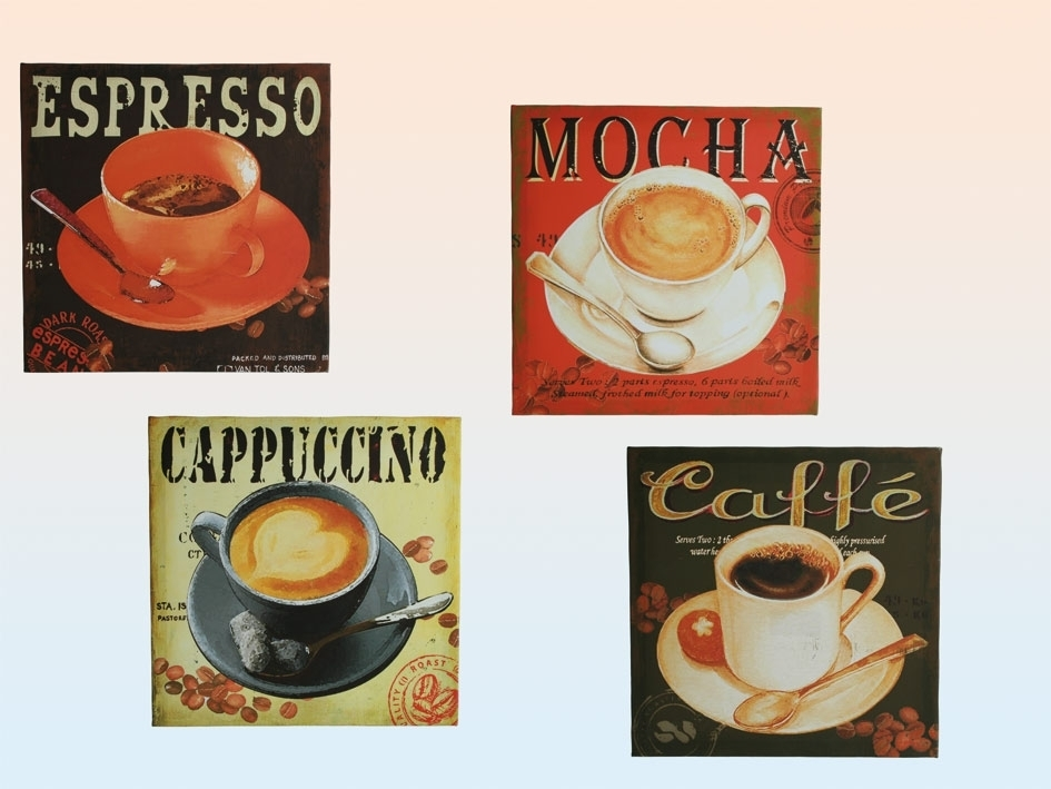 Retro Gifts Intended For Coffee Canvas Wall Art (Image 12 of 15)