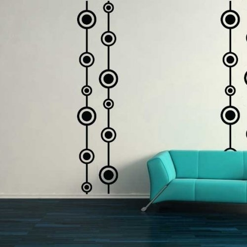 Retro Wall Design, Vintage, Unique, Decal, Vinyl, Sticker, Wall With Vinyl Wall Accents (Image 9 of 15)