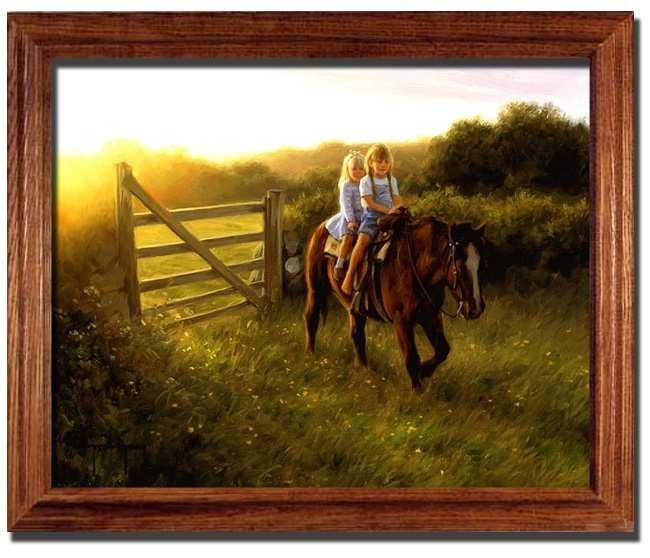 Riding Double Horse Girlrobert Duncan – Framed Art Print At Within Robert Duncan Framed Art Prints (Image 6 of 15)