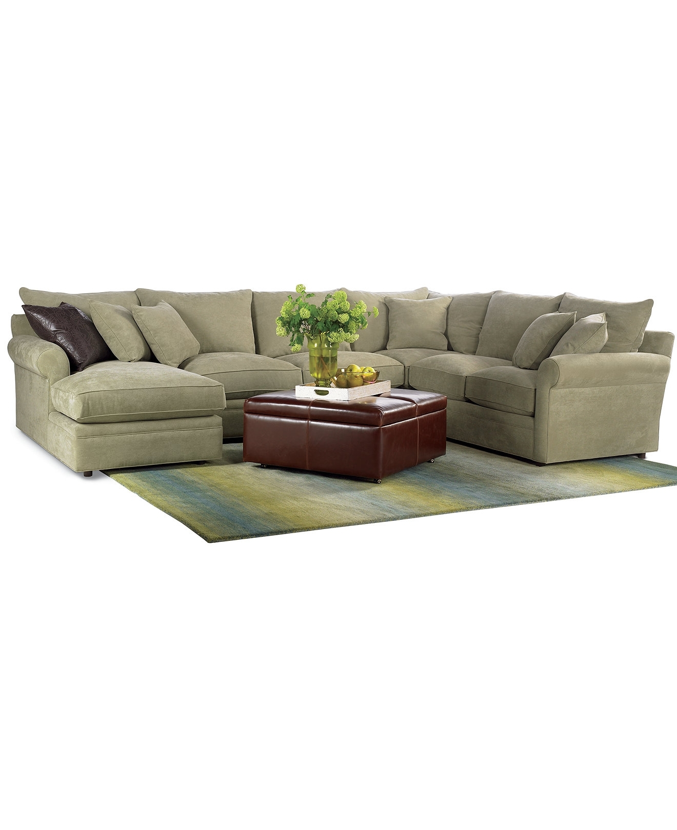 Right Sectional Sofa Ivy Polyester Right Facing With Bed – Grey Hand Throughout Regina Sectional Sofas (Image 7 of 10)
