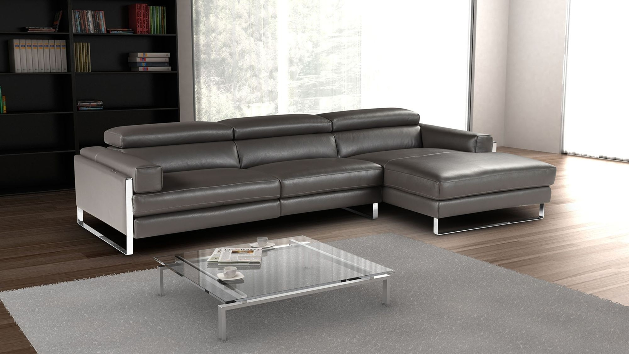Right Sectional Sofa Romeo Modern Facing Chaise Giuseppegiuseppe In Regina Sectional Sofas (View 3 of 10)