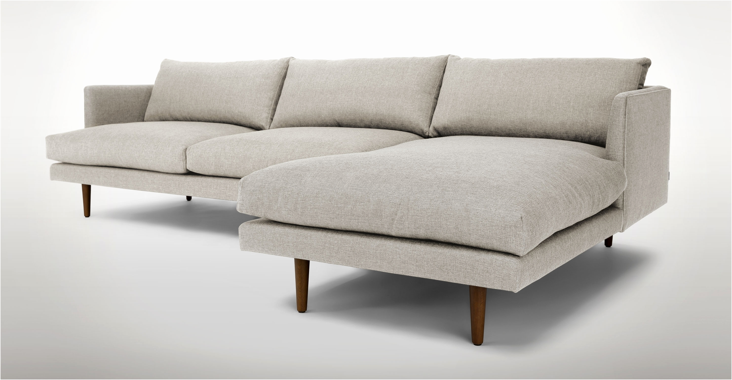 Right Sectional Sofa Sven Intuition Gray Scandinavian Furniture Hand Inside Regina Sectional Sofas (View 5 of 10)