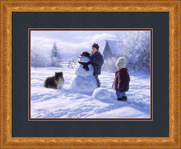 "Robert Duncan Framed Art: ""winter Friends – Large"" – Robert Duncan Regarding Robert Duncan Framed Art Prints (Image 11 of 15)"