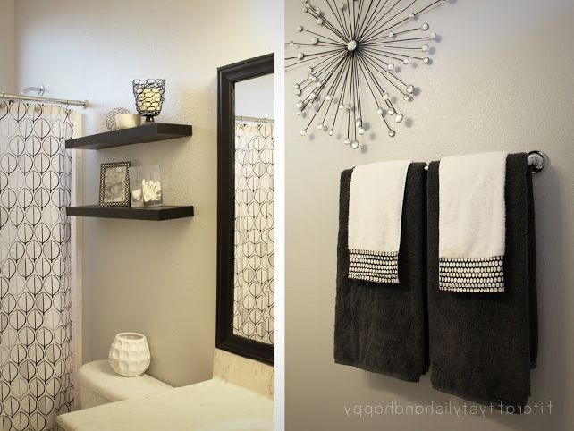 Romantic Decoration For Bathroom Walls Of Goodly Decorating Ideas Inside Wall Accents For Bathroom (Image 14 of 15)