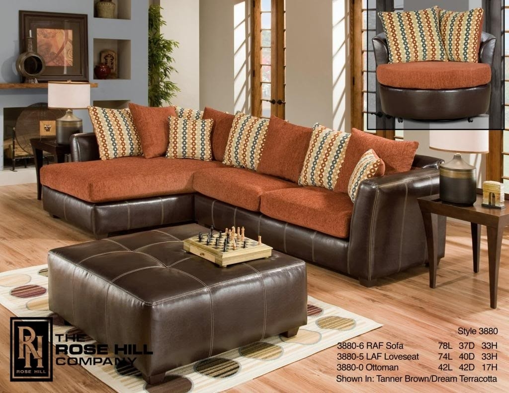 Rose Hill Furniture Trapper Brown / Dream Terracotta Complete Living For Memphis Tn Sectional Sofas (Image 8 of 10)
