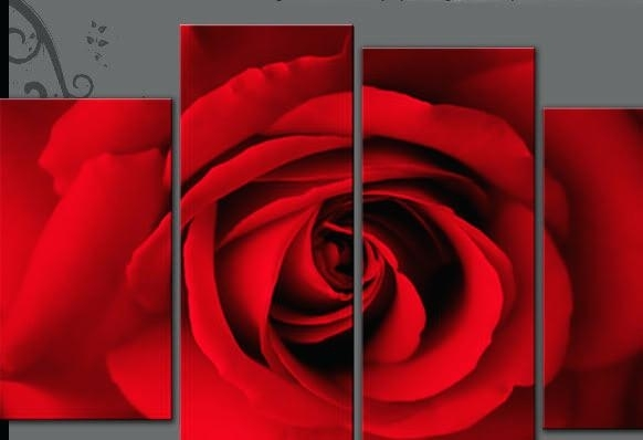 Rose Wall Decor Zoom Paper Rose Wall Art – Freecolors With Regard To Roses Canvas Wall Art (Image 10 of 15)