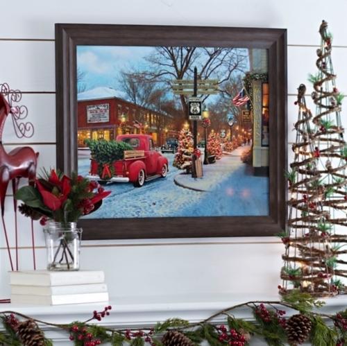 Route 66 Christmas Framed Art Print | Kirklands | Kirkland's With Regard To Christmas Framed Art Prints (Image 12 of 15)