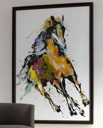 Running In The Wind' Abstract Wall Art – Neiman Marcus For Abstract Horse Wall Art (View 14 of 15)